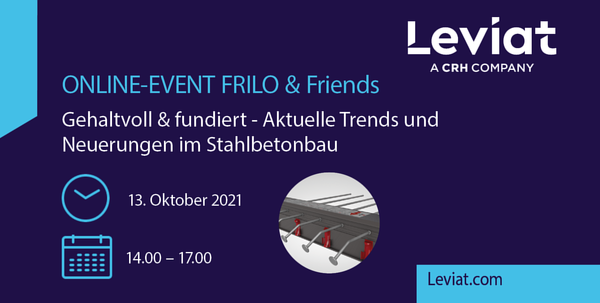 FRILO and Friends Online-Event am 13.10.2021